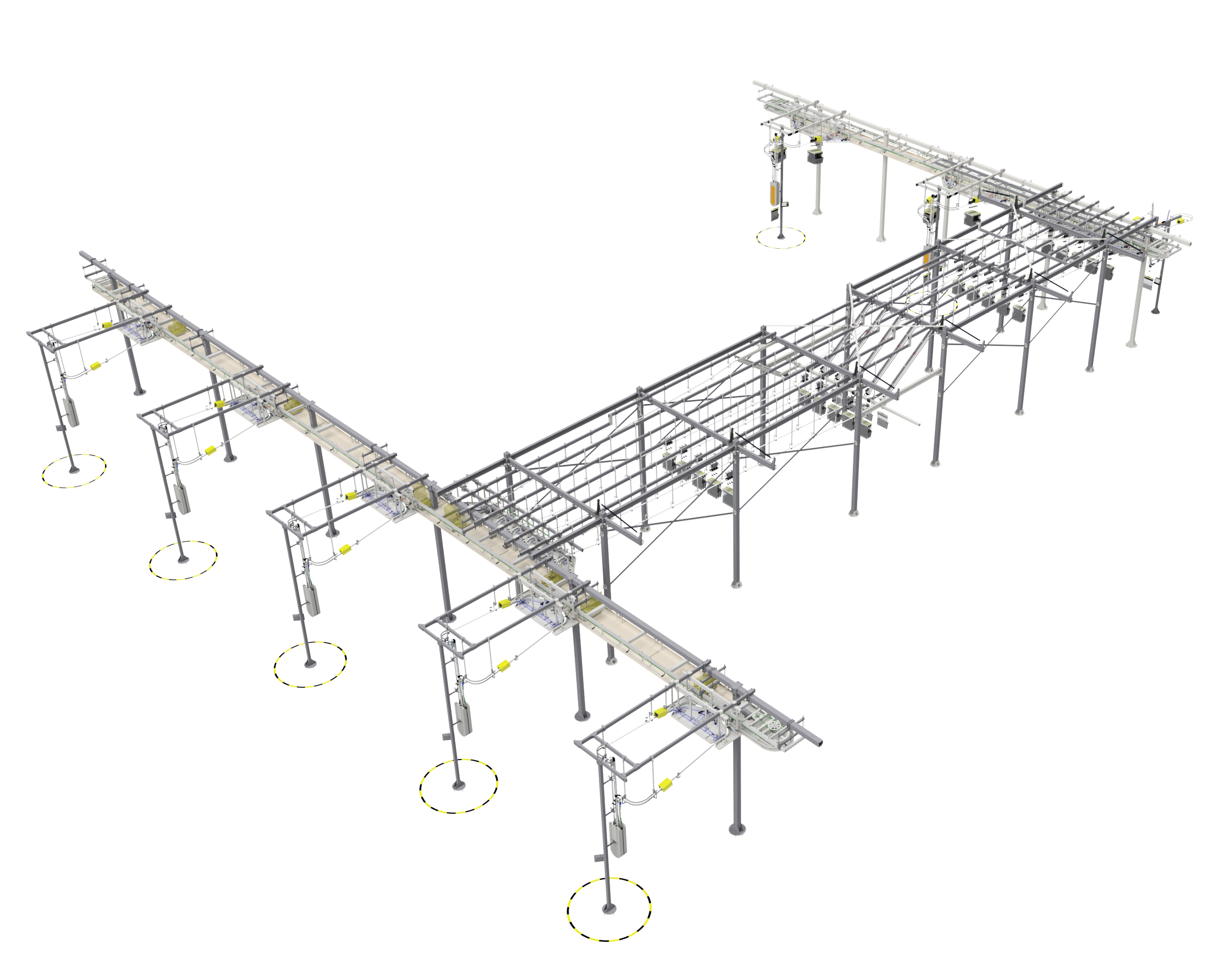 electric monorail system   overhead conveying system