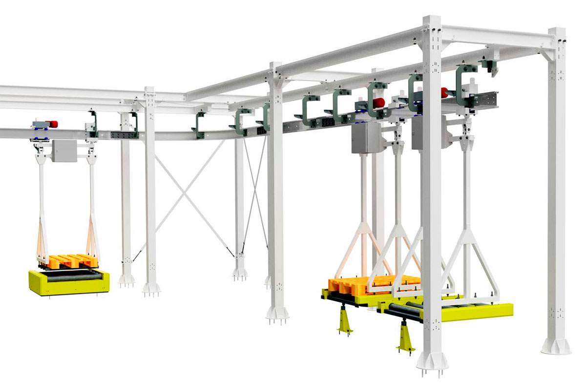 Electric-Monorail-Overhead-Conveyor-System
